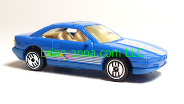 Hot Wheels BMW 850i, Blue, UH wheels, loose