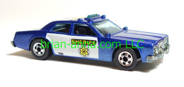 Hot Wheels Sheriffs Patrol, MF Blue, black interior, bw wheels, loose