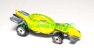 Hot Wheels Yellow Turboa, UH wheels, green spots, loose