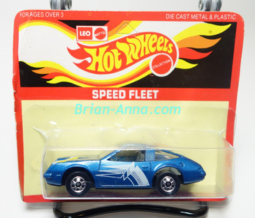Hot Wheels Leo Mattel India, Chevy Monza Blue, unpunched card