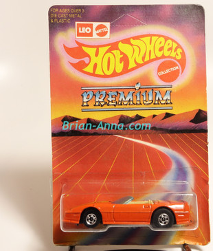 Hot Wheels Leo Mattel India, Custom Corvette Convertible, Orange, unpunched blister