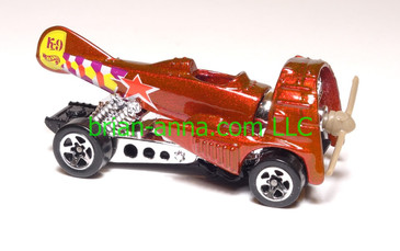 Hot Wheels Dog Fighter, metallic red, Sp5 wheels,  loose