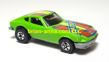 Hot Wheels Speed Machine Z-Whiz Green, Red tampo variation, loose