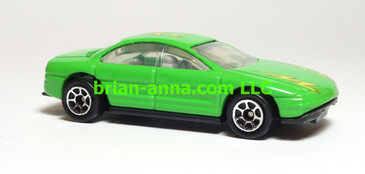 Hot Wheels Oldsmobile Aurora, Green, Sp7 wheels, China base, loose