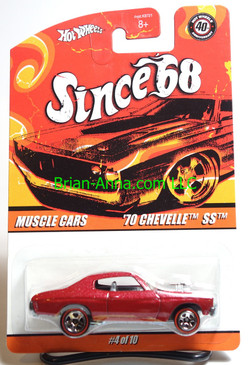 Hot Wheels Since 68 Muscle Cars, '70 Chevelle SS in Red