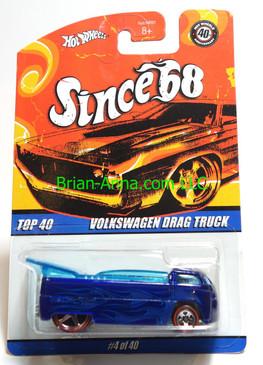 Hot Wheels Since 68 Top 40, Volkswagen Drag Truck in Blue