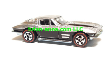 Hot Wheels Since 68 Muscle Cars, '64 Chevy Corvette Sting Ray, Silver/Black, LOOSE