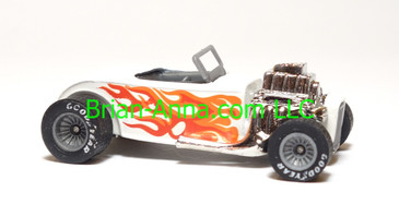 Hot Wheels Street Rodder in White with Real Riders, Malaysia base, loose