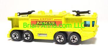 Hot Wheels Airport Rescue, Yellow, Blackwall wheels, Hong Kong base, loose