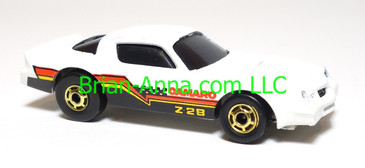 Hot Wheels Camaro Z28, White, hogd wheels, Hong Kong base, loose