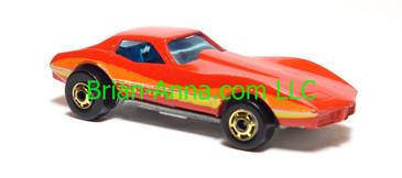 Hot Wheels Corvette Stingray, Red, hogd wheels, Hong Kong base, loose