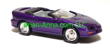 Hot Wheels 95 Camaro Convertible in Purple, Chrome TWC wheels,  loose