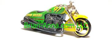 Hot Wheels Nascar Series Scorchin Scooter, #97 John Deere, loose
