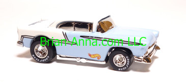 Hot Wheels '55 Chevy Light Blue, Old Cars Weekly promo, loose