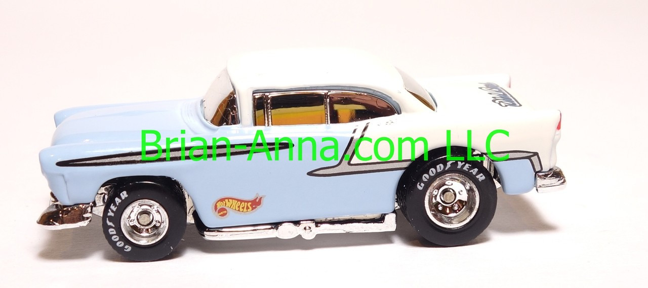 Hot Wheels \'55 Chevy Light Blue, Old Cars Weekly promo, loose