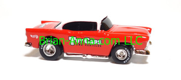 Hot Wheels '55 Chevy White/Red, Toy Cars Magazine promo, loose