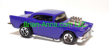 Hot Wheels Shell Gas Station Playset '57 Chevy, Purple, Sp5 wheels, China base, loose