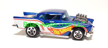 Hot Wheels Race Team Series II '57 Chevy, Race tampo, Sp5 wheels, Malaysia base, loose