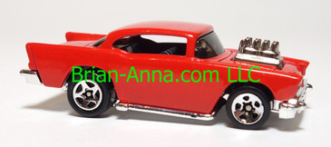 Hot Wheels '57 Chevy, Red, Sp5 wheels, China base, loose