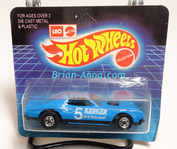 Hot Wheels Leo Mattel India Torino Stocker Kerker, Blue/White tampo on short Unpunched Blister