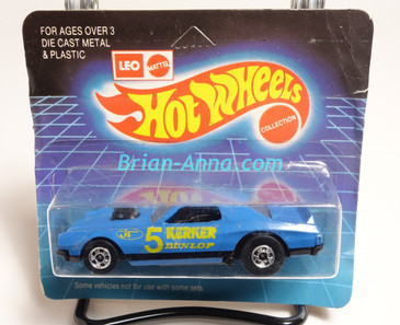 Hot Wheels Leo Mattel India Torino Stocker Kerker, Blue, Yellow tampo on short Unpunched Blister