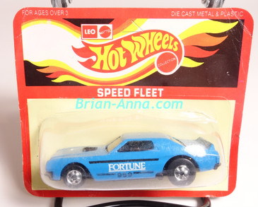 Hot Wheels Leo Mattel India Torino Stocker Fortune, Blue, White/Black tampo, Unpunched Blister