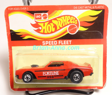 Hot Wheels Leo Mattel India Torino Stocker Fortune, Red, White/Black tampo, Unpunched Blister