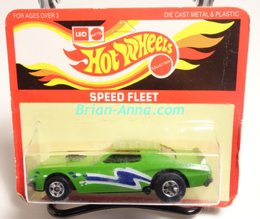 Hot Wheels Leo Mattel India Torino Stocker Green, Blue/White tampo, Unpunched Blister