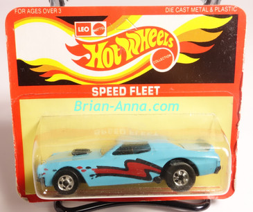 Hot Wheels Leo Mattel India Torino Stocker Light Blue, Dark Red/Black tampo, Unpunched Blister