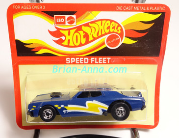 Hot Wheels Leo Mattel India Torino Stocker Dark Blue, Yellow/White tampo, Unpunched Blister