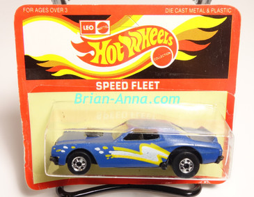 Hot Wheels Leo Mattel India Torino Stocker Blue, White/Yellow tampo, Unpunched Blister