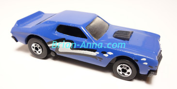 Hot Wheels Leo Mattel India Torino Stocker Blue, White/Black tampo, Loose