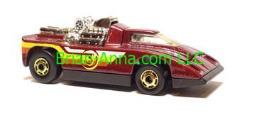 Hot Wheels Cannonade Maroon, hogd wheels, MEXICO, loose
