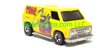 Hot Wheels Thor, Super Van, Heroes Series, Blackwall wheels, Hong Kong base, loose