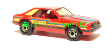 Hot Wheels Turbo Mustang Red, hogd wheels, Malaysia base, loose