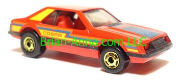 Hot Wheels Turbo Mustang Red, hogd wheels, Hong Kong base, loose