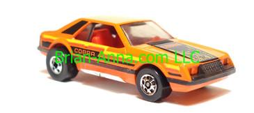 Hot Wheels Turbo Mustang Orange, Blackwall wheels, Hong Kong base, loose