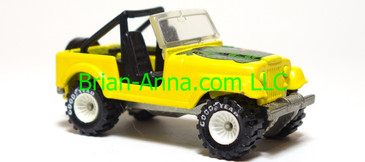 Hot Wheels Jeep CJ-7, Bright Yellow with white hub Real Riders, Malaysia base, loose