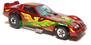 Hot Wheels Firebird Funny Car, Metalflake Magenta, Blackwall wheels, Malaysia base, loose