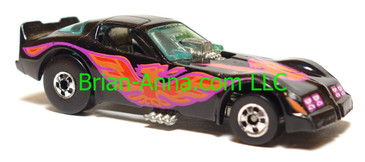 Hot Wheels Firebird Funny Car, Black, Blackwall wheels, Malaysia base, loose