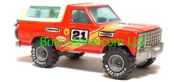 Hot Wheels Bronco 4-wheeler, Red, Real Riders, Malaysia base, loose
