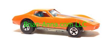 Hot Wheels Corvette Stingray in Orange, Malaysia base, Blackwall wheels, loose