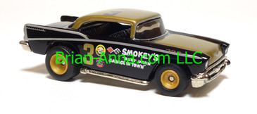 Hot Wheels '57 Chevy, Gold/Black, Real Riders, China base, loose