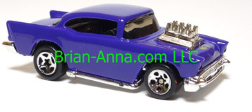 Hot Wheels '57 Chevy (exposed engine) Purple, sp5 wheels, China base, loose