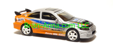 Hot Wheels Honda Civic Si, Metalflake Silver/Orange, China base, loose