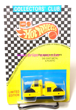 Hot Wheels Leo India Mattel Road Roller in Yellow, blisterpack
