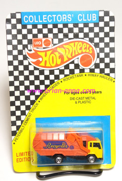 Hot Wheels Leo India Mattel Recycling Truck, Yellow Cab, blisterpack