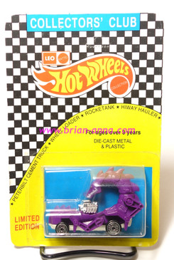 Hot Wheels Leo India Mattel Rodzilla, Purple, white base, blisterpack