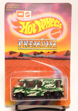 Hot Wheels Leo India Mattel GMC Motor Home, Military Transport, blisterpack