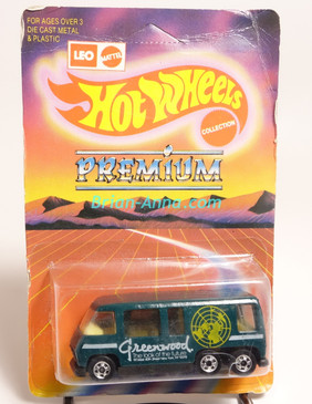 Hot Wheels Leo India Mattel Spruce Green GMC Motor Home, White Greenwood tampo artwork,  blisterpack
